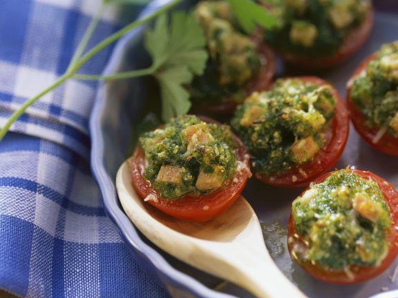 Überkrustete Tomaten