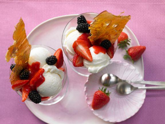 Vanille-Eisbecher