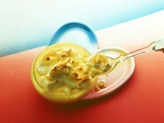 Vanillecreme mit gratiniertem Eischnee