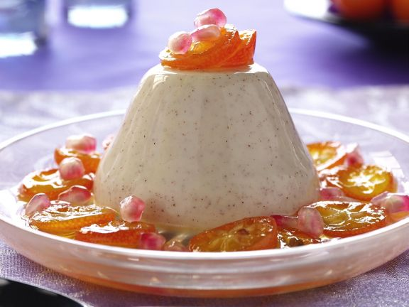 Vanillepudding mit Karamell-Kumquats