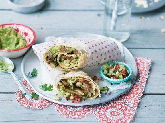Vegane Burritos mit Avocado