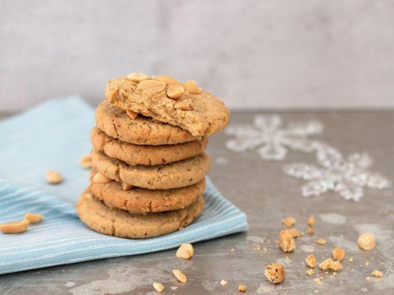 Vegane Peanut-Cookies mit Vanille