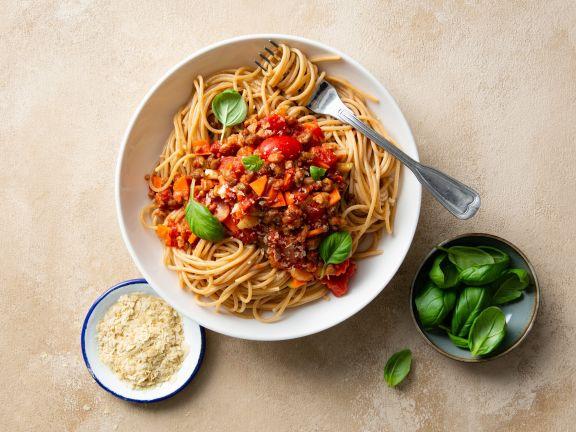 Vegane Spaghetti Bolognese mit Hick-Hack-Hurra
