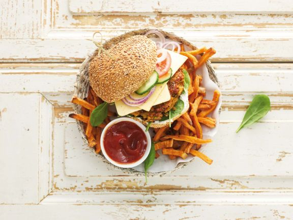 Veganer Linsen-Burger