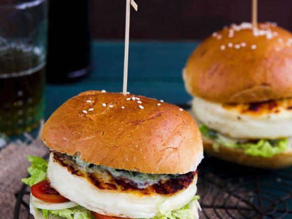 Vegetarischer Greek-Style-Burger