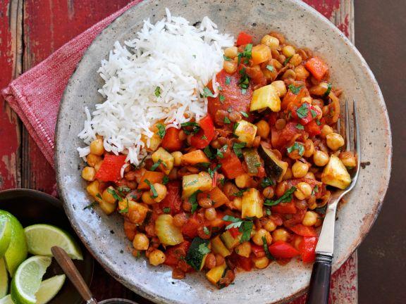 Vegetarisches Linsen Chili Mit Reis Rezept Eat Smarter