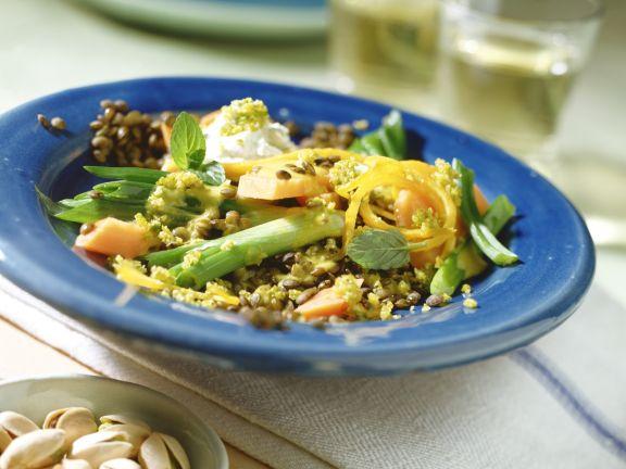 Vegetarisches Linsen-Pistazien-Curry