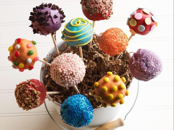 Verschiedene Cake Pops