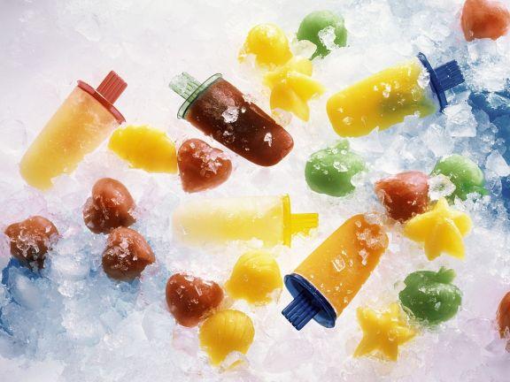 Verschiedene Fruchteissorten