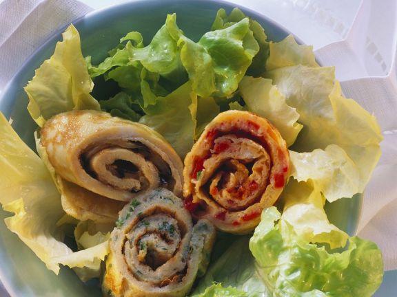 Verschiedene Gemüse-Pfannkuchen