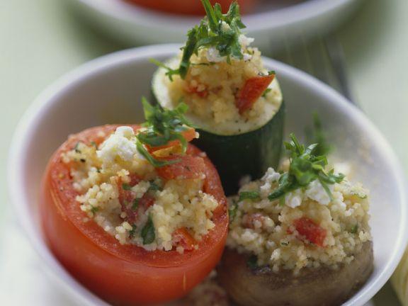 Verschiedenes gefülltes Gemüse