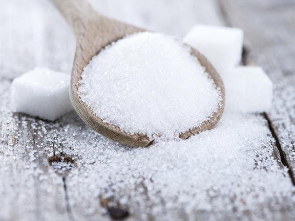 Zucker und Würfelzucker
