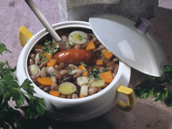 Vier-Bohnen-Suppe