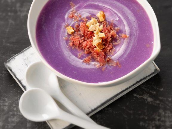 Violette Kartoffelsuppe