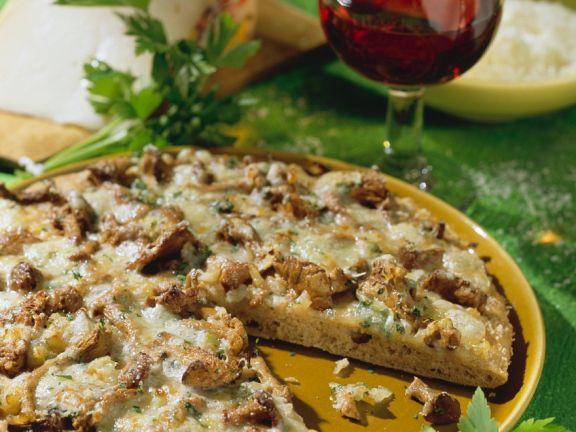 Vollkorn-Pfifferlingspizza