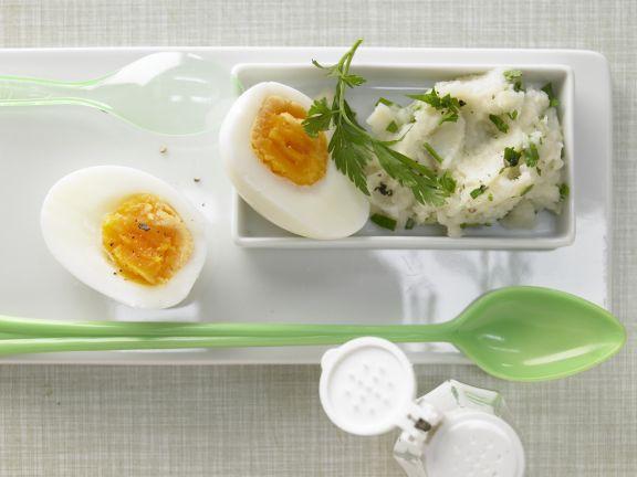 Wachsweich gekochtes Ei