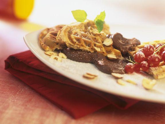 Waffeln mit Schokolade