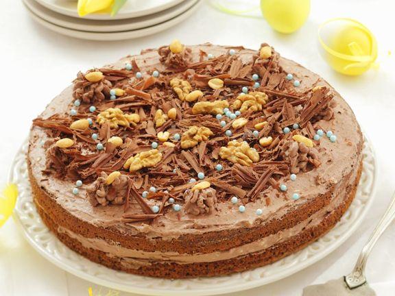 Walnuss-Schokoladenkuchen