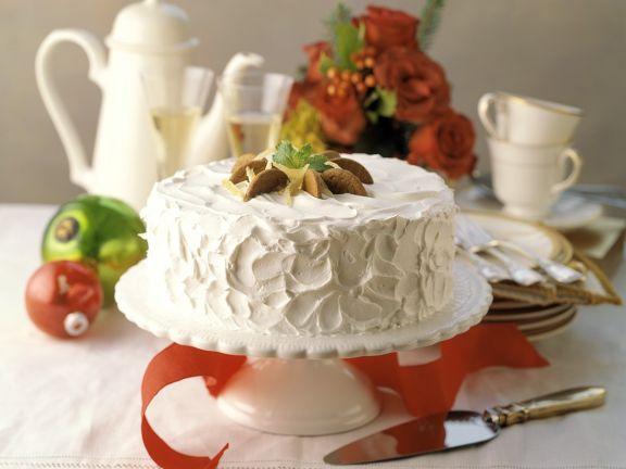 Weihnachtliche Ingwer-Sahne-Torte