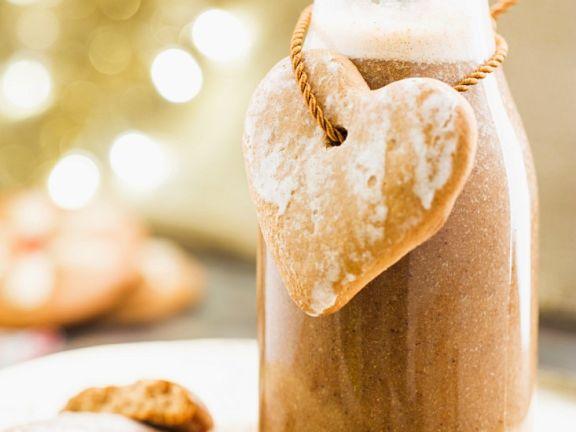 Weihnachtliche Lebkuchenmilch