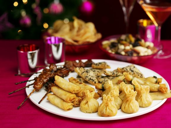 Weihnachtliche Partyhäppchen