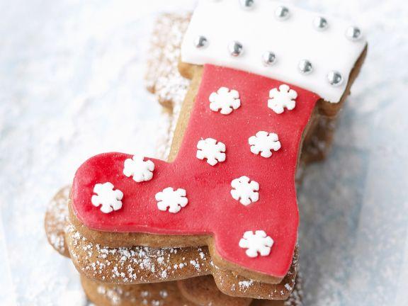 Weihnachtliche Stiefelplätzchen