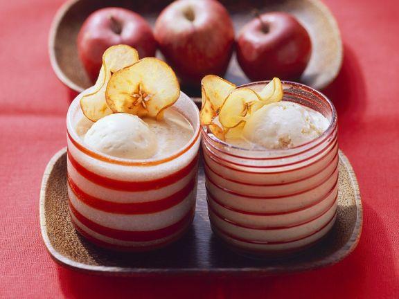 Weihnachtlicher Apfelmilchshake