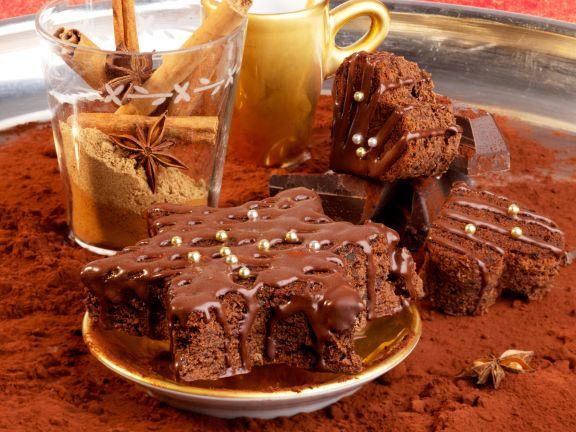 Weihnachts-Schoko-Brownies