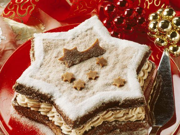 Weihnachtstorte mit Mokkacreme