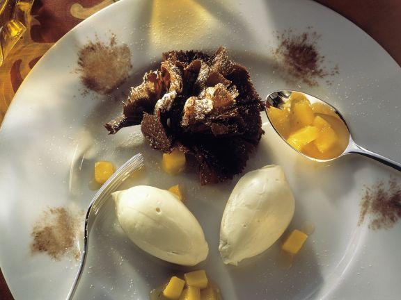 Weiße Schokocreme mit Mango