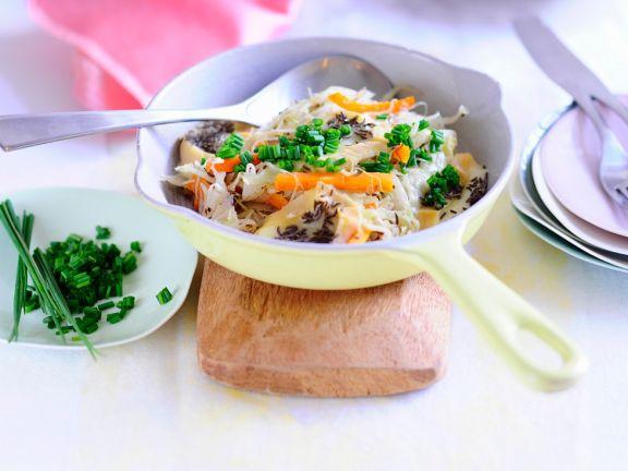 Weißkohl mit Weichkäse