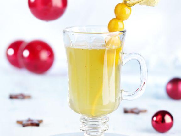 Weißwein-Punsch mit Kardamom und Vanille