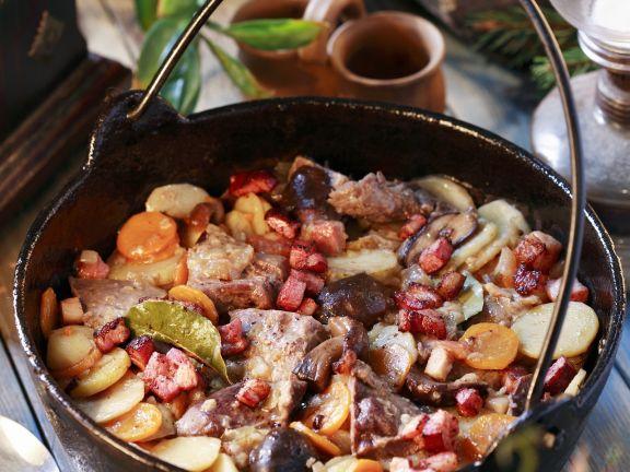 Wellfleisch mit Gemüse