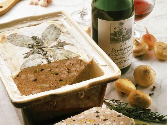 Wildschweinterrine mit Rioja