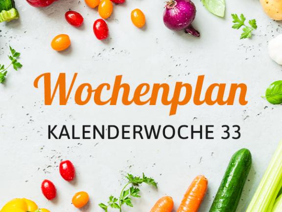 Wochenplan KW 33