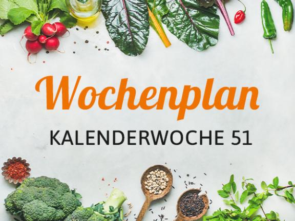 Wochenplan KW 51