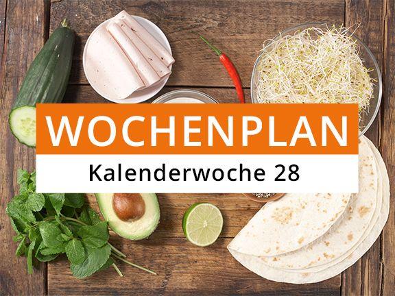 Eat Smarter Wochenplan Kalenderwoche 28