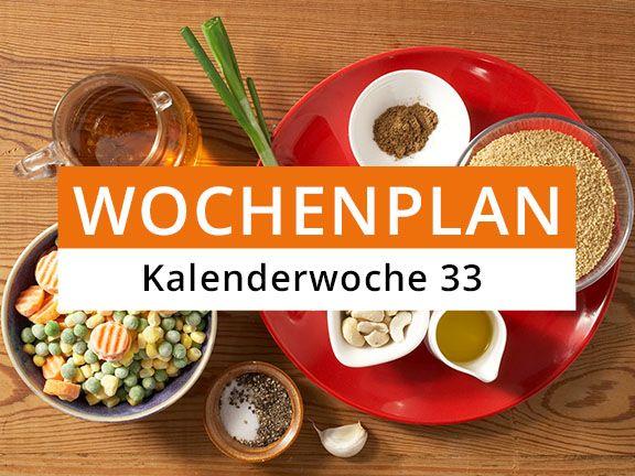 Eat Smarter Wochenplan KW 33