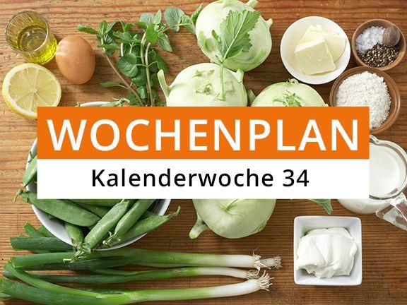 Eat Smarter Wochenplan KW 34