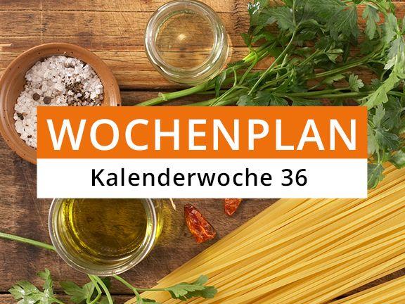 Eat Smarter Wochenplan KW 36