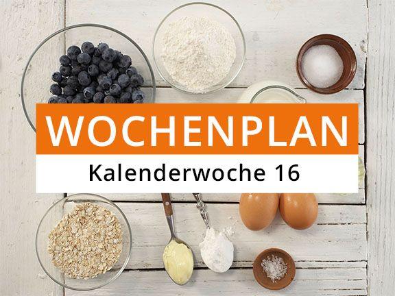 Eat Smarter Wochenplan Kalenderwoche 16