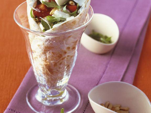 Wrap mit Salatfüllung