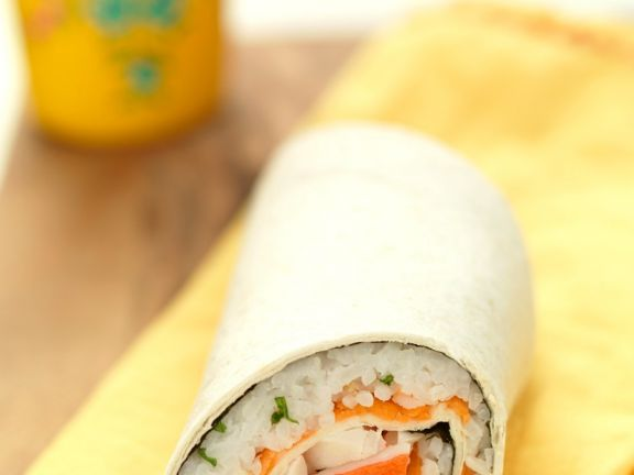 Wraps mit Reis und Surimi
