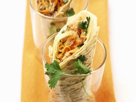 Wraps mit Thunfisch und Sprossen