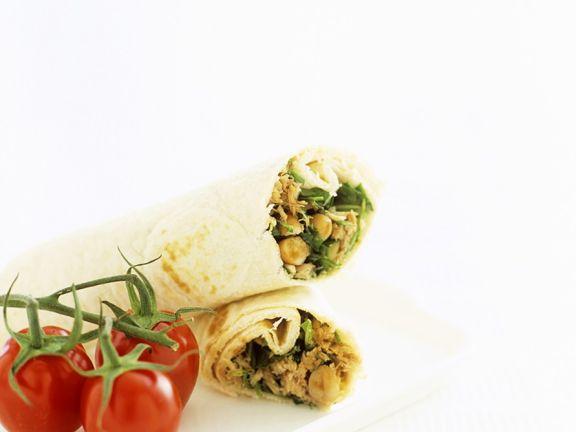 Wraps mit Thunifsch und weißen Bohnen