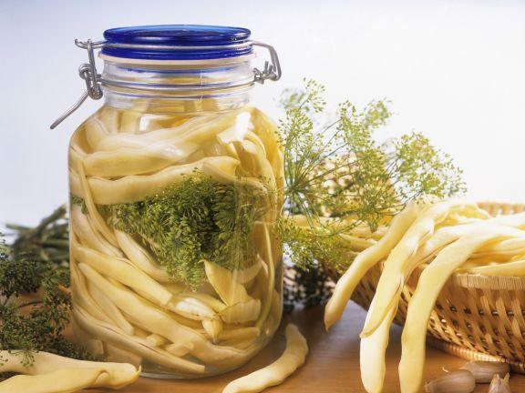 Würzig marinierte Bohnen