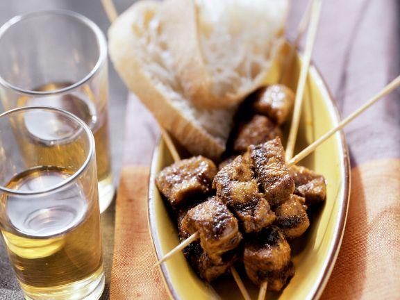 Würzige Fleischspieße aus Nordafrika