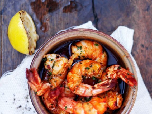 Würzige Shrimps in Öl