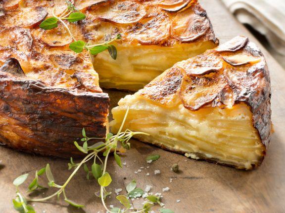 Würziger Kartoffel-Käsekuchen