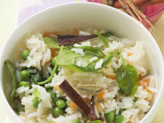 Würziger Reis mit Gemüse